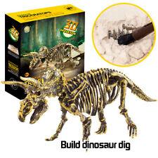 Dinosaur Toys Science Educational Dig Kit Dinosaur Fossil Excavation Kits Xmas