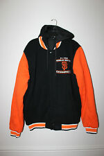 New MLB San Francisco Giants Champions Reversible hooded cotton jacket men's L
