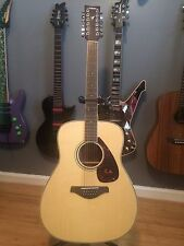 Yamaha FG 720S-12 Acoustic Guitar w/ RoadRunner bag Amazing Condition!!