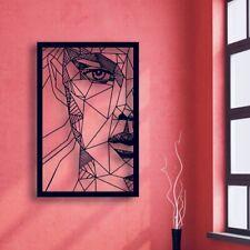 Abstract Woman Face Metal Wall Art Home Decor Hanging Sculpture, Livingroom,