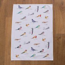 Garden-Birds Tea Towel by IONA BUCHANAN QUALITY COTTON BIRD LOVER GIFT FREE P&P