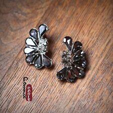 Boucles d'Oreilles  Art Déco Fan Cristal Gris Moderne Soirée Mariage Cadeau DD 2