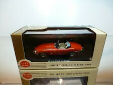 VANGUARDS GOLD JAGUAR E TYPE - RED 1:43 - EXCELLENT IN BOX