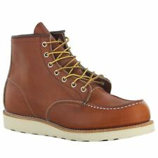 Red Wing Shoes 875 MOC Toe BOOTS ORO Legacy Brown Leather EUR 42 5