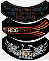 2016, 2017, 2018 HOG Members Rocker Patches HARLEY DAVIDSON OWNERS GROUP HD MC