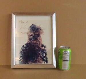 Framed Star Wars Chewbacca Peter Mayhew Signed Autograph