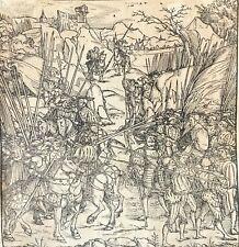 Bois gravé circa 1508 illustration Tite-Live école Allemande anonyme Deutschland