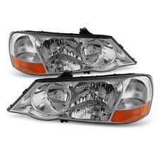 Acura 02-03 TL Chrome Housing Replacement Headlights Left + Right Pair Set