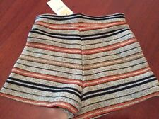 Polyester Hand-wash Only Striped Shorts for Women