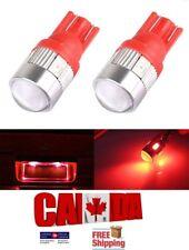 2pcs T10 194 168 Red W5W 5630 LED 6SMD Car Light Bulb Brake Turn Projector Lens