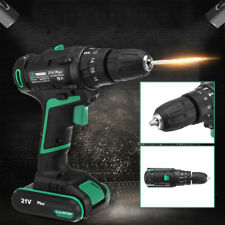 21V Cordless Impact Drill Driver Set Lithium Ion Screwdriver Rechargeable