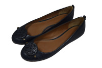Tory Burch Womens Blue Snake Embossed Leather Shoes Ballet Flats Size 10.5 M