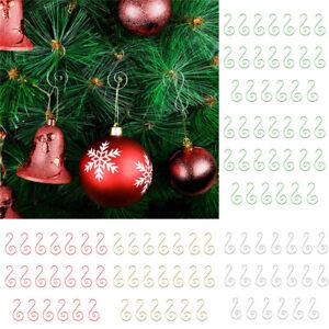 20PCS Steel Christmas Tree Ornament Hooks S Shaped Baubles Ball Home Xmas Decor