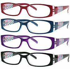 Reading Glasses 4 Pack Quality Readers Spring Hinge Stylish Designed Womens Glas