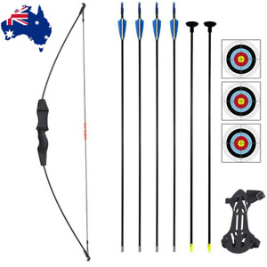 Archery Bow and Arrow Set Beginner Recurve Bow Outdoor Sports Game Xmas Gift