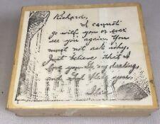 Rubber Stamp Handwritten Note Letter American Art Mail Craft Write Handwriting