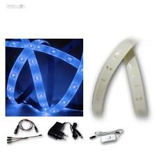 (9,29€/m) LED Lichtband Komplett-Set Blau 2x 1,2m, 120 SMDs Lichterband Streifen