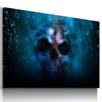 SKULL DEATH BONES GHOST MODERN CANVAS WALL ART PICTURE AB656 X MATAGA