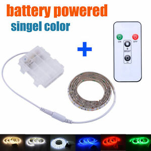 LED Strip Lights 4.5V Battery Powered with Remote Waterproof Sideboard Longboard