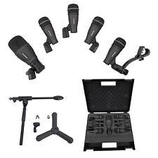 Samson Dk705 Drum Microphone Kit-(1) Q71 Kick Mic+(4) Q72 Snare/Tom Mics+Stand