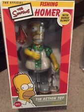 HOMER SIMPSON THE SIMPSONS OFFICIAL FISHING HOMER TIN ACTION TOY BLINKY MIB