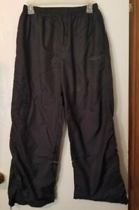 Vintage Womens Small or Child XL Windbreaker Black Track Pants Reebok 80s 90's?