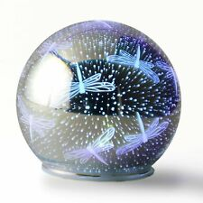 Led Color Changing Lighted Glass Dragonfly 3D Effect Gazing Ball