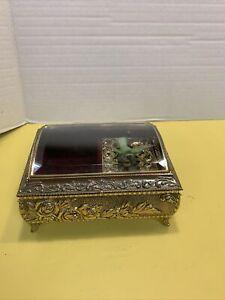 Vintage Westland Hummingbird Bird Music Jewelry Box Automaton