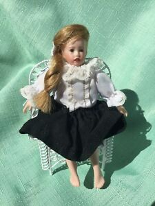 'Mini Shay' Handmade Porcelain Doll 12cm