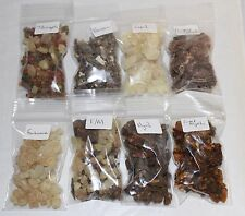 Granular Resin Incense Variety Sampler Set: 8 Fragrances, 8 x 1/2 oz bags