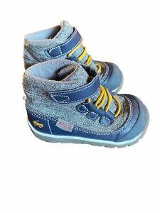 See Kai Run Boys Gilman Gray Blue Round Toe Ankle Waterproof Snow Boot Size US 6