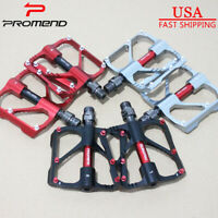 US Promend 9/16 in MTB Road Bike Pedals 3 Sealed Bearings Ultralight Alloy 1Pair