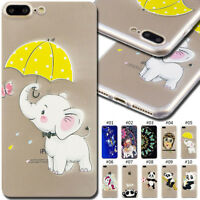 For Apple iPhone 7 Plus/8 Plus Back Soft Clear Slim Case Cover Silicone TPU Skin