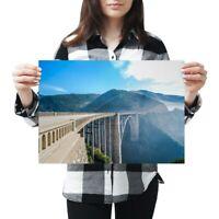A3 - Bixby Bridge California USA Poster 42X29.7cm280gsm #3105