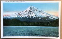 Mount Hood From Lost Lake Oregon Postcard Snow Capped Mountain Portland