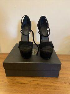 Kurt Geiger - Black High Heeled Open Toed Shoes - UK Ladies Size 6
