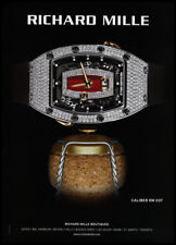 Richard Mille watch 1-page print ad 2018 on champagne cork
