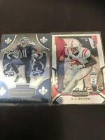 Panini Prizm Draft And Rookie And Stars Aj Brown RC Holo And Base Lot X2 Titans