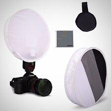 Fomito 31cm Flash Disc Portable Speedlight Softbox Grey White Black On Soften