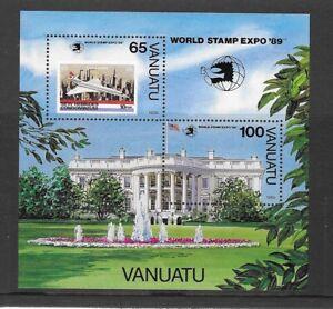 VANUATU 1989 MNH WORLD STAMP EXPO 89 INT'L STAMP EXPO MS 537