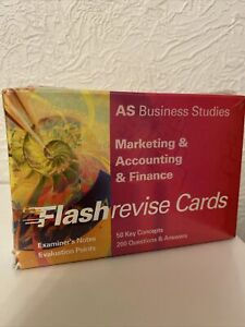 Flash Revise Cards AS Business Studies Marketing ,Accounting & Finance Brand new