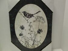 """Bird Theme Wooden Wall Plaque, Black And White, 15"""" x 19"""", New"""