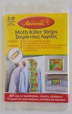 Moth Killer Strips Aerona - Kills Moths & Larvae & Eggs - 1 Pack of 2 Strips