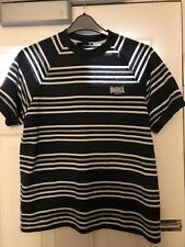 Lonsdale Men's Navy/White Striped S/S Top Size Small