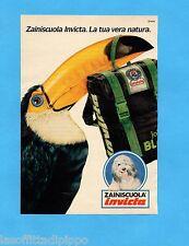 TOP990-PUBBLICITA'/ADVERTISING-1990- INVICTA - ZAINI SCUOLA (TUCANO)