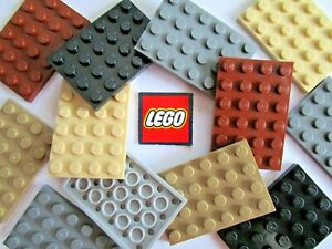LEGO PLATES 4x6 (Packs of 2) Pick Your Colour - Design ID 3032