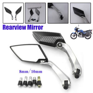 1 Pair Universal 8mm 10mm Side Rear View Mirrors For Scooter E-Bike Motorcycle