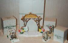 Lot 4 Charming Tails Fitz & Floyd Silvestri Dean Griff Winter Snow Christmas Mib