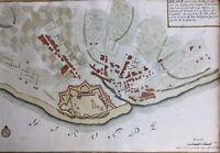 Blaye en 1725 Gironde Guyenne Fortification  Rarissime Gravure ancienne