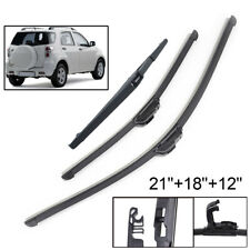 Front Rear Tailgate Wiper Blades Set For Daihatsu Terios 2006 2007 2008 2009-17